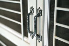 Poignées de porte en acier photos libres de droits