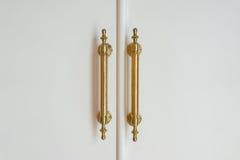 Poignées de porte en laiton Images stock