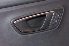 Poignées de portière de voiture et détail électrique Photographie stock libre de droits