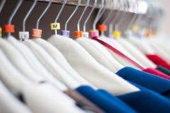 Poignées de vêtement Photographie stock libre de droits