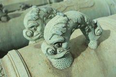 Poignées en bronze de canon de dauphin Images libres de droits