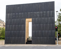 Poignant message back of 9:03AM end wall, Oklahoma City Memorial Royalty Free Stock Photo
