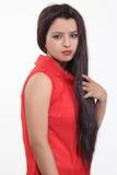Poils artificiels de coiffures de femmes Images stock