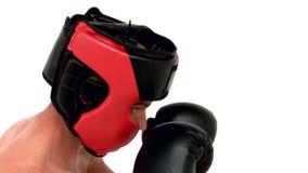 Poinçon déterminé de boxeur banque de vidéos