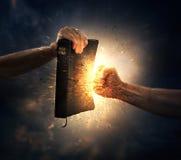 Poinçon de la bible photo libre de droits