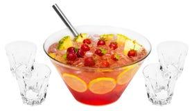 Poinçon rouge de fraise Images libres de droits