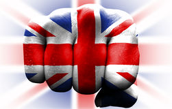 Poing britannique de drapeau Photos stock