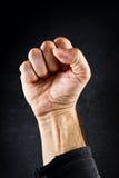 Poing de protestation d'émeute Photographie stock libre de droits
