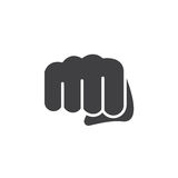 Poing, vecteur en avant d'icône de poinçon, signe plat rempli, pictogramme solide d'isolement sur le blanc illustration libre de droits