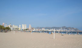 Poiniente Beach, Benidorm. Stock Image