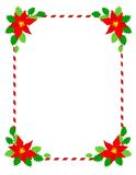 poinsettia πλαισίων Χριστουγέννων Στοκ φωτογραφία με δικαίωμα ελεύθερης χρήσης