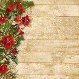 有poinsettia&bell的o圣诞节美丽的诗歌选 免版税图库摄影