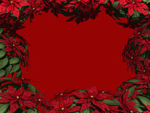 Poinsettia Border Royalty Free Stock Photo