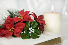 Poinsettia Bridal Bouquet Royalty Free Stock Images