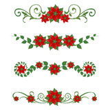 Poinsettia Christmas ornaments Royalty Free Stock Image