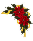 Poinsettia Corner Group Stock Photo