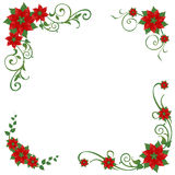 Poinsettia corner ornaments Stock Images