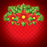 Poinsettia decoration Royalty Free Stock Photography