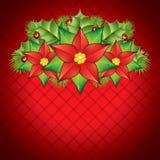 Poinsettia decoration Royalty Free Stock Photography