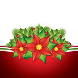 Poinsettia decoration Royalty Free Stock Images