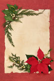 Poinsettia Decorative Border Royalty Free Stock Photography