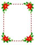 Poinsettia del marco de la Navidad Fotografía de archivo libre de regalías