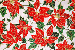 Poinsettia floral pattern. Christmas poinsettia floral textile pattern Stock Images