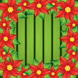Poinsettia frame Stock Photos
