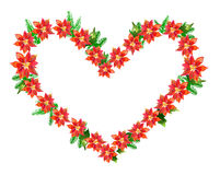 Poinsettia Heart Stock Images