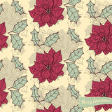 Poinsettia pattern Stock Photos