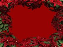 Poinsettia-Rand Lizenzfreies Stockfoto