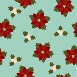 Poinsettia seamless wallpaper Stock Photo
