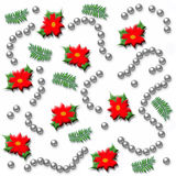 Poinsettia wrap Royalty Free Stock Photography