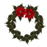 Poinsettia Wreath Royalty Free Stock Photos