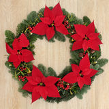 Poinsettia Wreath Royalty Free Stock Photo