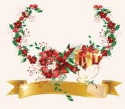 Poinsettias do Natal. ilustração do vetor