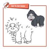Point à pointiller avec le gorille de bande dessinée Image stock