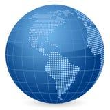 Point 2 de globe du monde illustration de vecteur