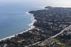 Point aérien Dume de Malibu et crique de paradis images libres de droits