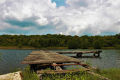 Point abandonné de bain de soleil Photos libres de droits