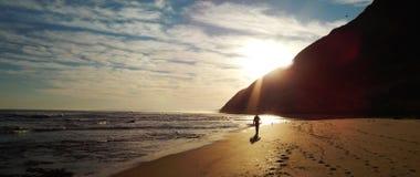 Point Afrique du Sud de Gericke de coucher du soleil Photo stock