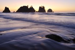 Point of Arches, Shi Shi Beach sunset Stock Photography