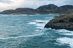 Point of Ardnamurchan. Looking North from the Ardnamurchan Lighthouse at point of Ardnamurchan towards Sgurr nam Meann and Portuairk, Scotland. 01 January 2018 royalty free stock images