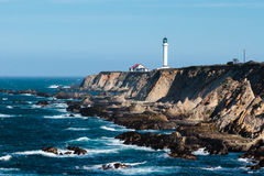 Point Arena, California. Point Arena Lighthouse on the Pacific coast of California royalty free stock images