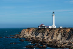 Point Arena, California. Point Arena lighthouse on the Pacific coast of California royalty free stock photos