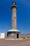 Point Arena Lighthouse. Erected in 1870, destroyed by the 1906 earthquake, and rebuilt the following year, it was the first lighthouse to be made of steel and Royalty Free Stock Photos
