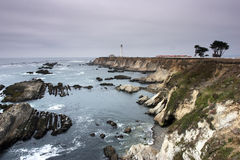 Point arena lighthouse. Point arena, ca royalty free stock photography