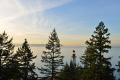 Point Atkinson Lighthouse at sunrise Stock Photos