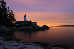 Point atkinson lighthouse in twilight Stock Image