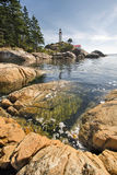 Point Atkinson Lighthouse in Vancouver BC Vertical Royalty Free Stock Images